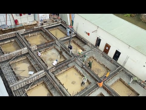 how to build concrete foundation beams iron according to standards iso international