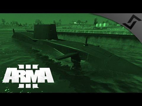 Submarine Capture & M110 DMR Overwatch - ARMA 3 - MARSOC Mar