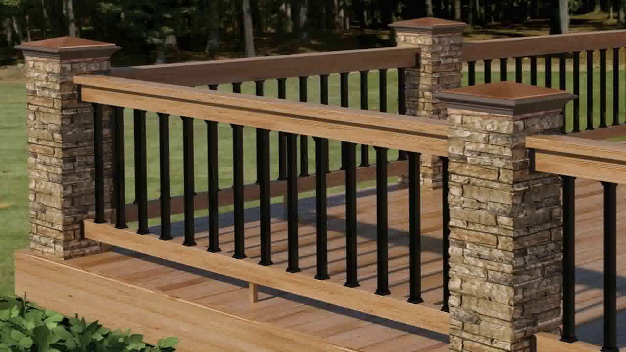 Wood Balcony Railing Designs - YouTube