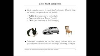Semantics of Words Lecture