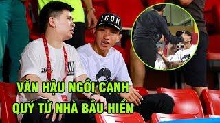 Văn Hậu được cựu chủ tịch CLB Hà Nội vuốt má yêu khi ngồi cạnh con trai bầu Hiển   Ted Trần TV