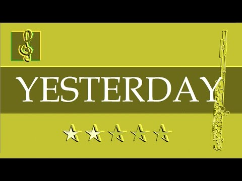Flute & Guitar Duet - Yesterday (Sheet music - Guitar chords)