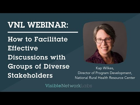 Leading Networks toward Action: Facilitating Effective Discussions with Diverse Stakeholders