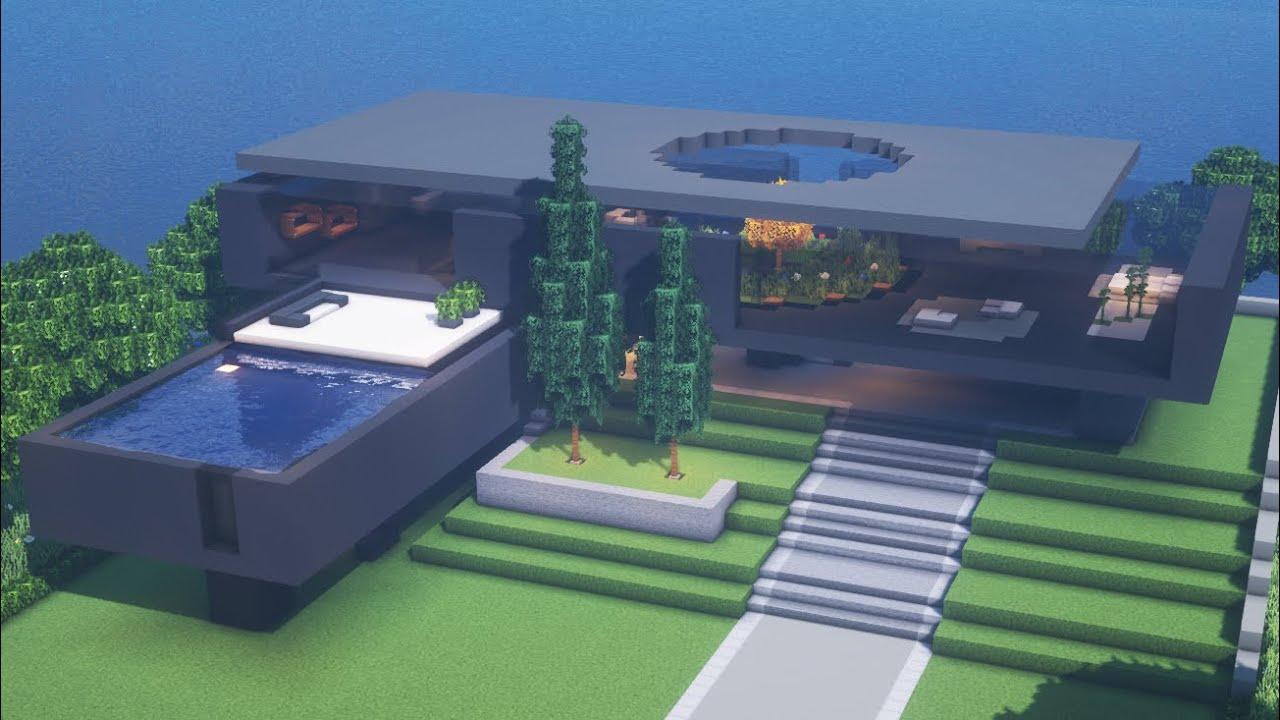 【Minecraft】 Modern House Tutorialㅣ Modern City #17