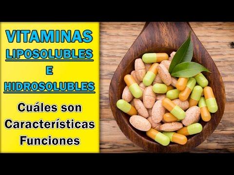 clasificacion y funcion de las vitaminas hidrosolubles y liposolubles