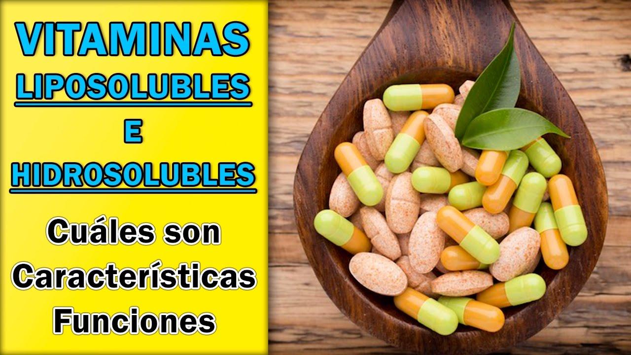 cual es la diferencia entre las vitaminas hidrosolubles y liposolubles