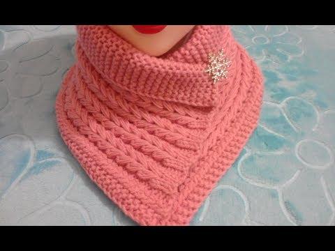Вязать спицами воротник шарф