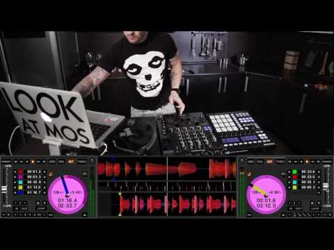 MASCHINE MK2 SERATO SCRATCH LIVE tone play and making breakfast by DJ MOS