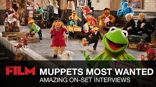 Muppets Most Wanted: On Set Interviews with Kermit, Piggy, Ricky Gervais & more