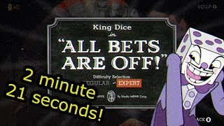 Cuphead Glitchless Speedrun: All Bets Are Off! (2:21)