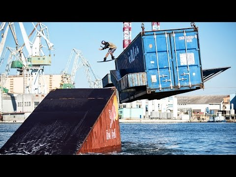 Harbor Crane as a Tow Cable Red Bull Wakeboarding videos