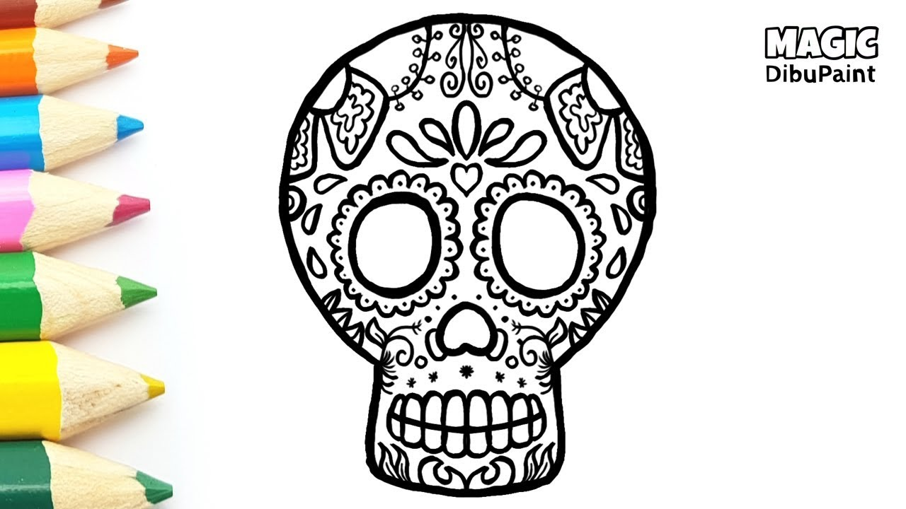 Dibujos Halloween Catrina Para Dia De Muertos Dibujar Y Colorear Catrina Mexicana