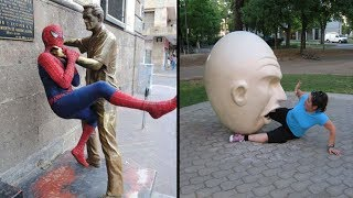 Download The Most Amazing People Who Pose Different With Sculptures Mp3 and Videos