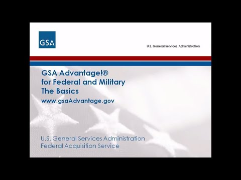 GSA Advantage Training
