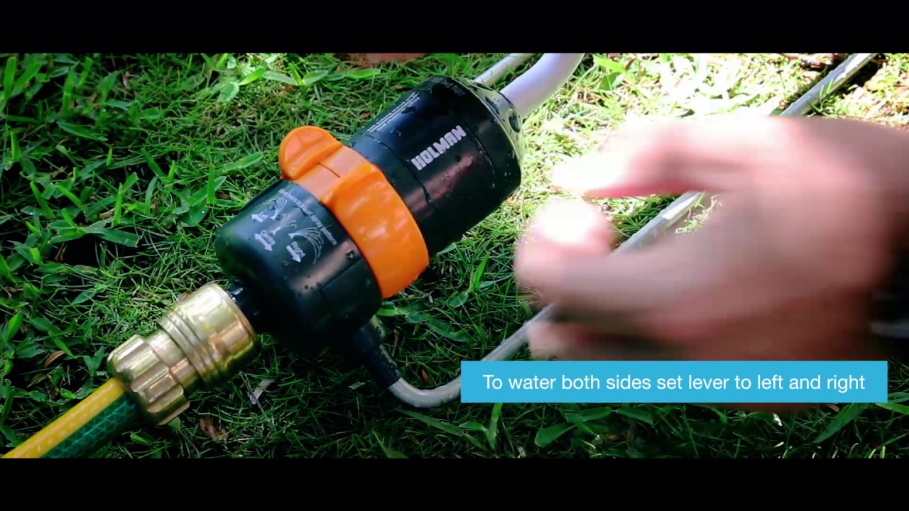 How To Set Up The Holman Oscillating Sprinkler Youtube Installation Manual Diy Howto