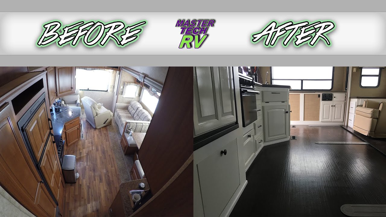 5th Wheel Interior Remodel (BEFORE U0026 AFTER!!)