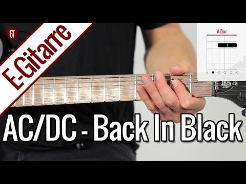 AC/DC - Back In Black   E-Gitarren Tutorial