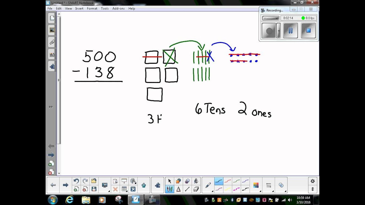 worksheet Subtraction Across Zeros plank north third grade subtraction across zeros with a proof drawing