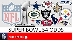 Super Bowl 54 Betting Odds Featuring 49ers, Seahawks, Ravens, Patriots, Chiefs, Cowboys & Raiders