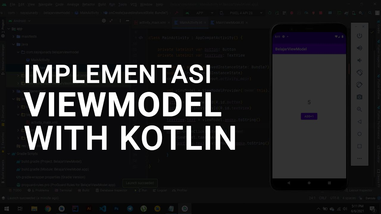 Implementasi Android ViewModel with Kotlin