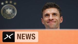 Thomas Müller über die Krise des FC Bayern München, die Niederlande und Druck | DFB-Team | SPOX