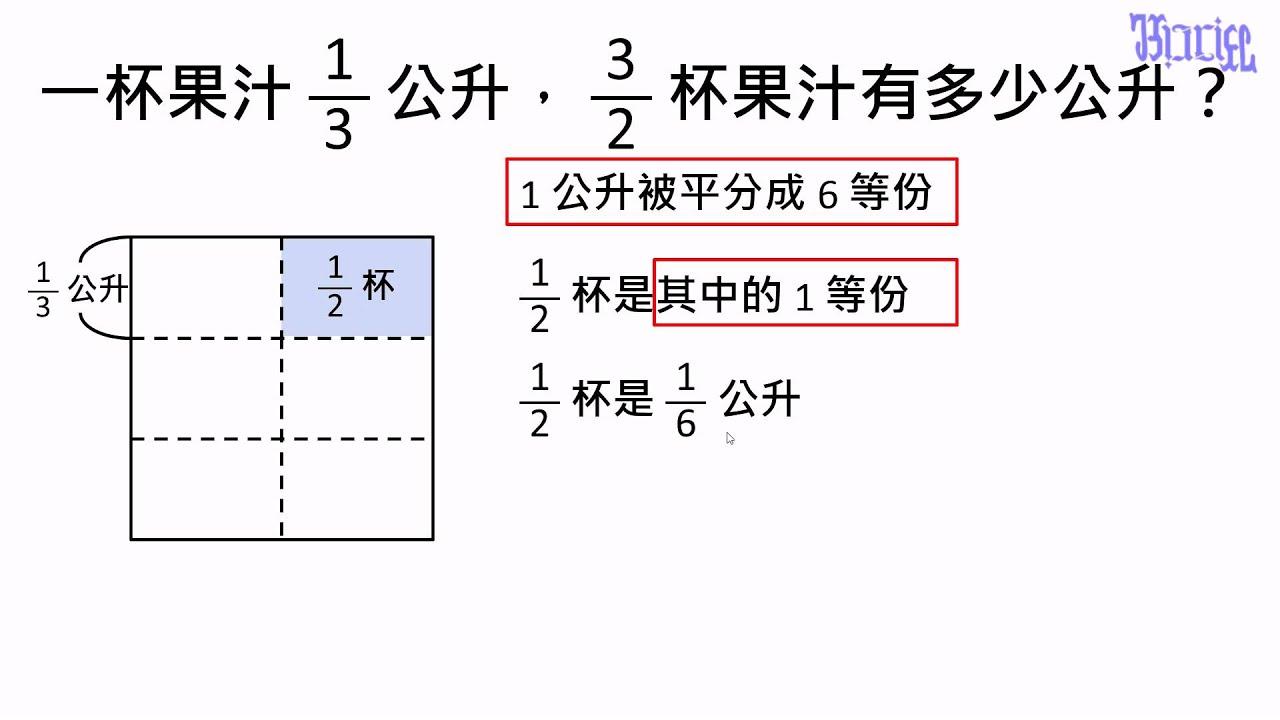 分數(1) - (12)分數乘以分數 - YouTube