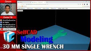 SelfCAD 30 mm Tek Anahtarı Öğretici Modelleme