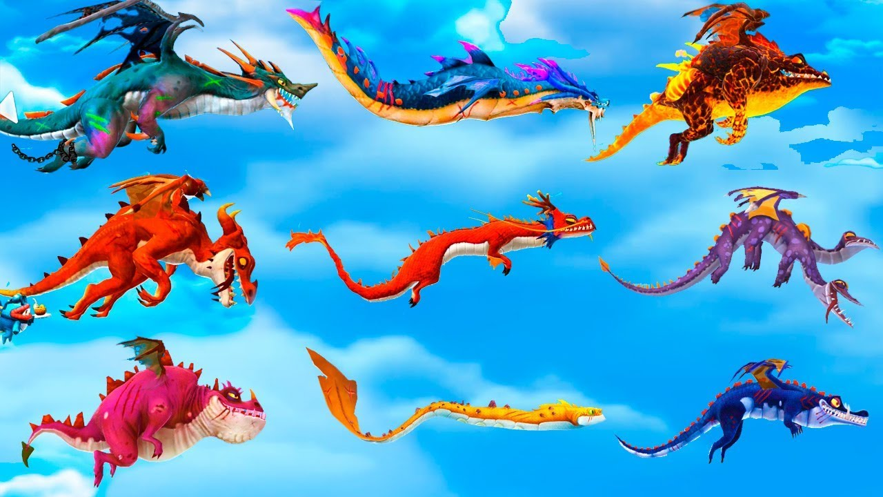 Hungry Dragon All Dragons Unlocked (Draconis, Poseidran, Dante, Blaze, Zhe Long, Jekyll & Fried)45:08