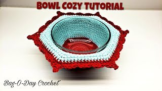 HOW TO CROCHET A BOWL COZY | EASY CROCHET | BAGODAY CROCHET TUTORIAL #487