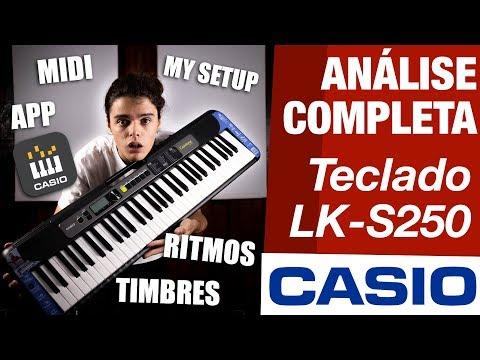 ANÁLISE COMPLETA TECLADO CASIOTONE LKS250 CASIO UNBOXING