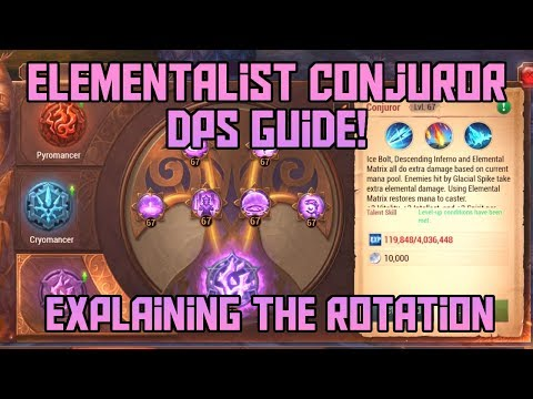 Elementalist Conjuror DPS Guide + Skills / Rotation Explanation! | Crusaders of Light