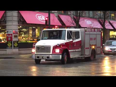 Vancouver Fire & Rescue Services  Medic 7 & BC Ambulance Service Responding