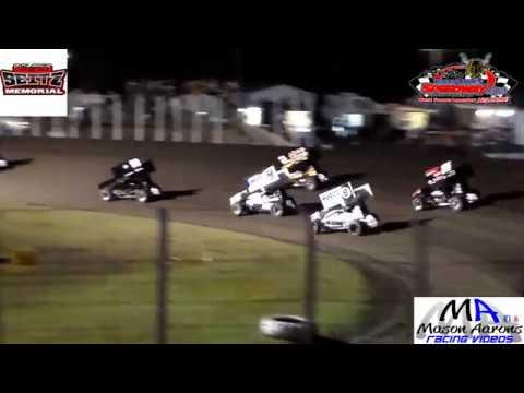 River Cities Speedway NOSA Sprint Car Heats & Pole Dash (John Seitz Memorial) (9/7/18)