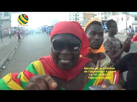 Cris de détresse d'une manifestante Tem à la marche à Lomé