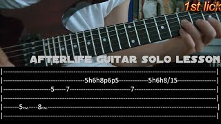 Afterlife Guitar Solo Lesson - Avenged Sevenfold (with tabs)