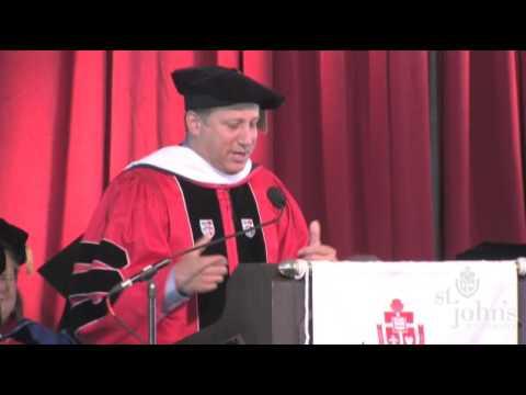 Bruce Beck - St John's University Commencement Address 2009 (Part 2 of 2)