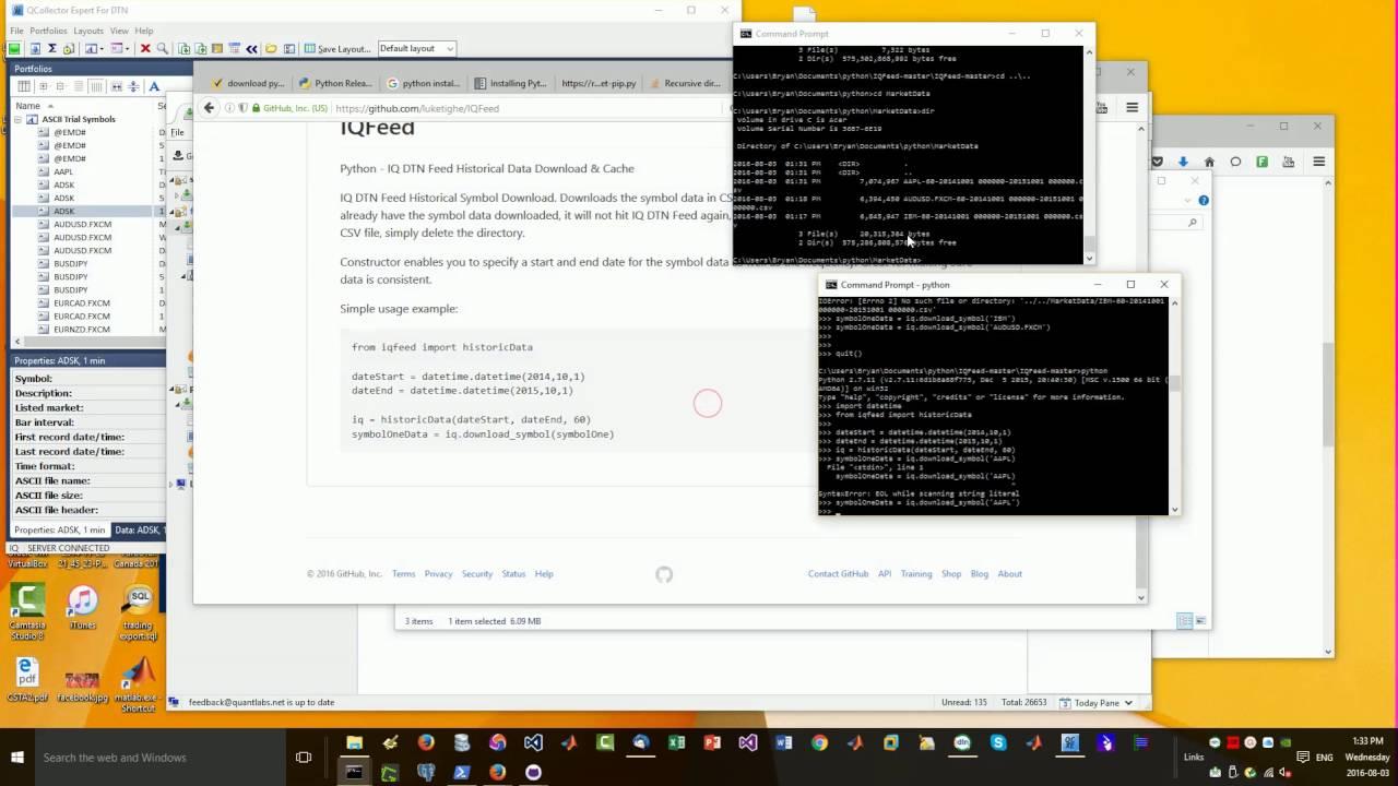 Python forex historical data