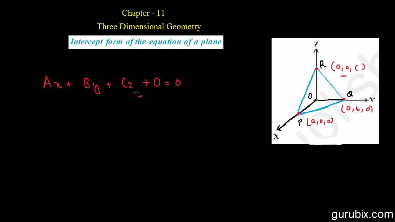 intercept form meaning in hindi  Hindi : Intercept form of the equation of a plane - 11 Dimensional Geometry  - Ch 11 - CBSE 11th Math