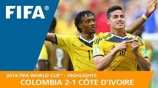 COLOMBIA v CÔTE D'IVOIRE (2:1) - 2014 FIFA World Cup™