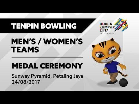 KL2017 29th SEA Games   Tenpin Bowling - Men's/Women's Teams 🏅 MEDAL CEREMONY 🏅   24/08/2017