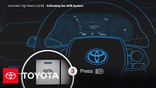 How To Turn On The Automatic High Beams | Toyota