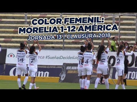 Color Femenil: Morelia 1-12 América   Jornada 13   Clausura 2018
