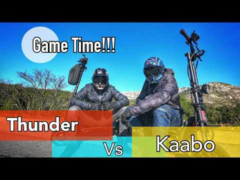 It's Game Time!!! Dualtron Thunder Vs Kaabo Wolf Warrior  (ENGLISH Subtitles Availables !!! )