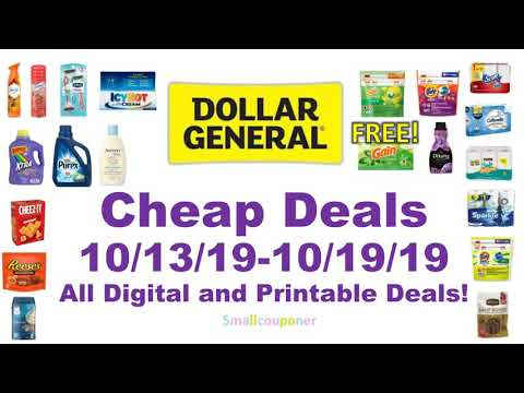 Dollar General Cheap Deals 10/13/19-10/19/19! All Digital And Printable Coupon Deals!