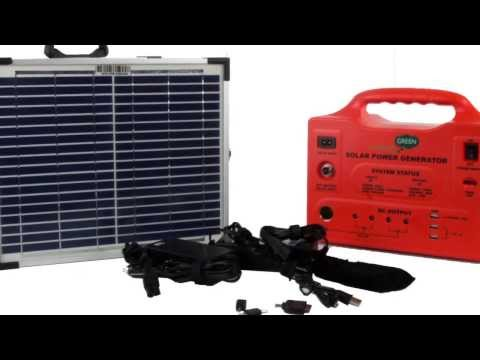 Concept Green SPS-1220W Solar Powered Generator with 2x10W Solar Panels