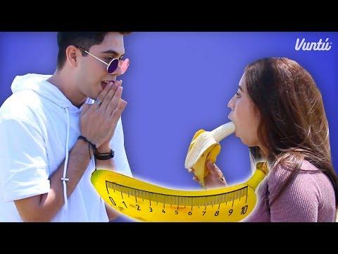 El Reto de la Garganta Profunda. Comer plátano nunca fue tan rico