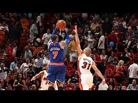 Carmelo scores 50 points against the Heat!