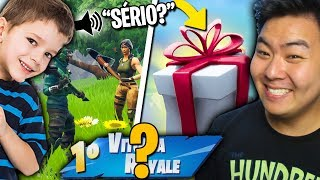 """I GIVE YOU a GIFT SKIN IF we WIN THIS MATCH!!""-Fortnite Battle Royale"