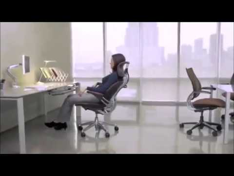 humanscale freedom task office desk chair with headrest