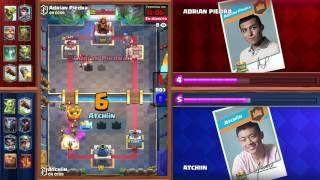 Clash Royale: Adrian Piedra vs Atchiin Tiebreaker Match - Crown Championship Top 8 (LATAM, Week 3)